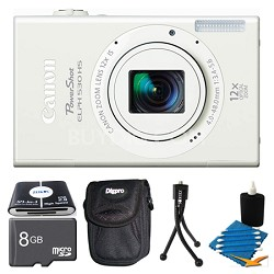 PowerShot ELPH 530 HS White Camera 8GB Bundle