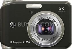 """A1250 12.2MP 2.5"""" LCD 5x Zoom Digital Camera (Black)"""