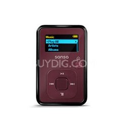 Sansa Clip Plus 4GB Red MP3 Player  ( SDMX18R-004GR-A57 )