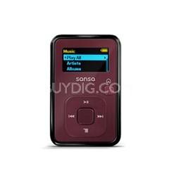 Sansa Clip Plus 4GB Red MP3 Player  ( SDMX18R-004GR-A57 )