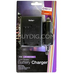 AC/DC Rapid battery charger for Canon LP-E5  Battery