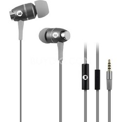 In-Ear Headphones with Mic - Grey