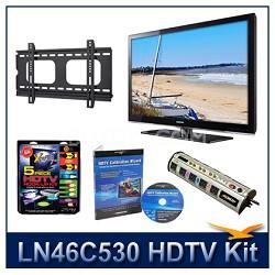 "LN46C530 - 46"" HDTV + Hook-up Kit + Power Protection + Calibration + Flat Mount"