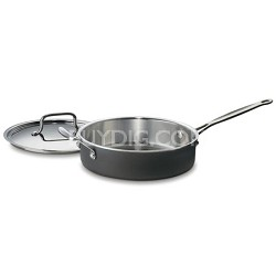 MultiClad Unlimited Saute Pan with Helper and Cover, 3-Quart, Black