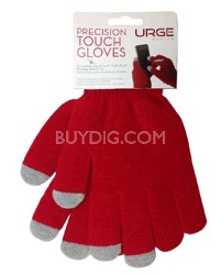 Precision Touchscreen Gloves for Tablets and Touchscreen Phones (Red)