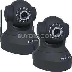 FI8918W Wireless Pan & Tilt IP/Network Cam w/Night Vision (Black) 2 Pack