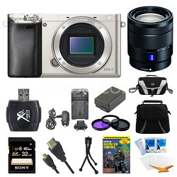 Alpha a6000 Silver Interchangeable Lens Camera Body and 16-70mm Lens Bundle