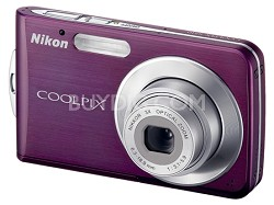 Coolpix S210 Digital Camera (Plum)