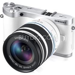 NX300 20.3MP CMOS Smart WiFi Compact DSLR DigiI Cam. 18-55 Lens White - OPEN BOX