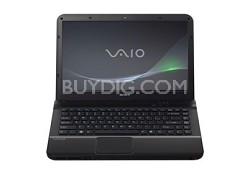 VAIO VPCEA44FX/BJ 14-Inch Entertainment Laptop (Black) Intel Core i3-380M