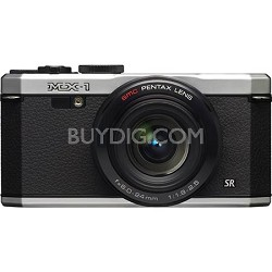 "MX-1 12 MP Silver Digital Camera with 3"" LCD and 1080p HD Video - OPEN BOX"