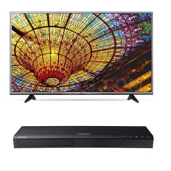 "49UH6030 - 49"" 4K Ultra HD Smart TV + Samsung UBD-K8500 3D 4K Blu Ray Player"