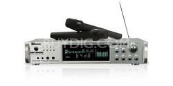 1000 -Watt Hybrid Power Amp with dual wireless mics (Silver)
