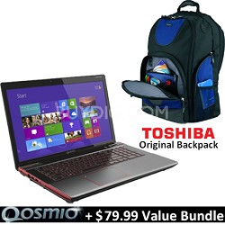 "Qosmio 17.3"" X875-Q7380 Notebook PC - Intel Core i7-3630QM Value Bundle"