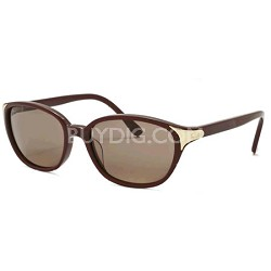 C03 Fashion Sunglasses - Burgundy Frame/Brown Lens (CL2250C03)