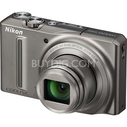COOLPIX S9100 12MP Silver Digital Camera w/ 18x Optical Zoom