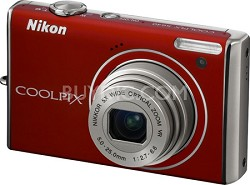 COOLPIX S640 Digital Camera (Velour Red)