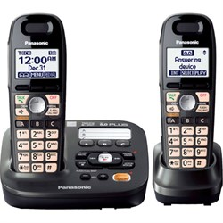 KX-TG6592T Expandable Digital Cordless Answering System w/2 handsets - OPEN BOX