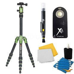 A0350Q0G Backpacker Travel Green Tripod Accessory Kit