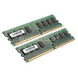 4GB (2GB X 2) 240-pin DIMM DDR2 PC2-5300 Unbuffered Non-ECC