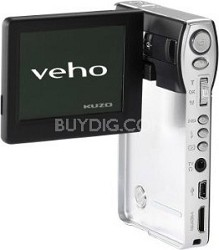 VCC-001 Kuzo 720p HD Ultra Slimline Pocket Camcorder with MP3 player