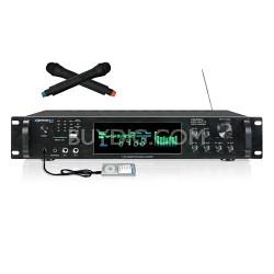HW4000U Digital Hybrid Amp/Preamp Tuner w USB/SD Card Inputs & Dual Wireless Mic