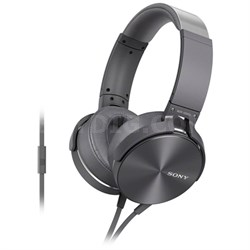 MDR-XB950AP Full-Size Headphones with Extra Bass - Silver