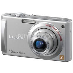 DMC-FS5 (Silver) 10 MP Digital Camera w/ 2.5-inch LCD & 4x Optical - OPEN BOX