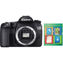 EOS 70D 20.2 MP Digital SLR Camera Body With Complete PC Office Suite 5