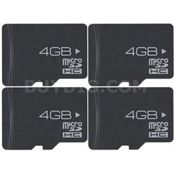 4-Pack 4 GB High-Speed MicroSD Memory Card (16 GB Total)