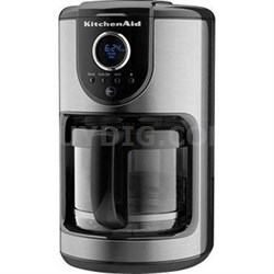 12-Cup Glass Carafe Coffee Maker in Onyx Black - KCM111OB