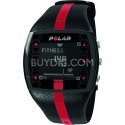 FT7  Heart Rate Monitor Watch - Black/Red