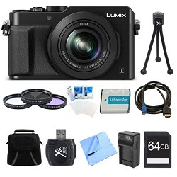 LUMIX LX100 Integrated Leica DC Lens Camera 64GB Filter Kit Bundle