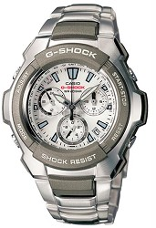 G1000D-7A - G-Shock Analog Chronograph Stainless White Dial