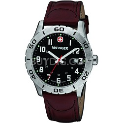 Men's Grenadier Black Dial Brown Leather Strap 0741.203