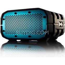 Portable Ultra Rugged Wireless Speaker, Gray & White and Blue Grill - BRV1GWC