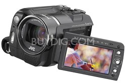GZ-MG555 Hybrid Camera with 30GB HDD, 5MP CCD, 10x Opt Zoom and Dock