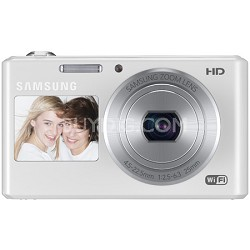 DV150F Dual-View 16.2 MP Smart Camera with Built-in Wi-Fi - White - OPEN BOX