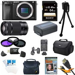 Alpha a6000 24.3MP Interchangeable Lens Camera Body and Lens Kit