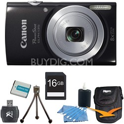 PowerShot ELPH 135 16MP 8x Optical Zoom Digital Camera Black Kit