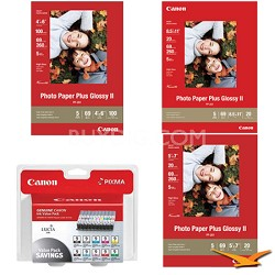Pro 9500 Ink & Paper Kit (8 Ink Cartridges and 3 Packs of Paper)