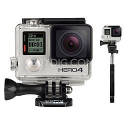 HERO4 Silver Edition HD Action Camera with Selfie Stick for GoPro