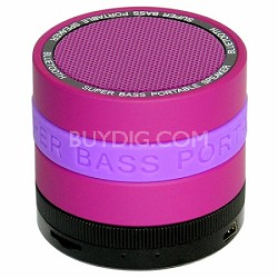 Portable Bluetooth Speaker with 8 Customizable Color Bands - Purple Speaker