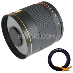 800mm F8.0 Mirror Lens for Sony E-Mount (NEX) (Black Body) - 800M-B