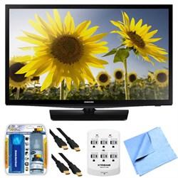 UN28H4500 28-inch HD 720p Smart LED TV Clear Motion Rate 120 Plus Hook-Up Bundle