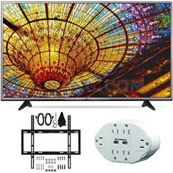 43UH6030 - 43-Inch 4K UHD Smart LED TV w/ webOS 3.0 Slim Wall Mount Bundle
