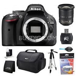D5200 DX-Format Digital SLR Camera Body Wide Angle Lens Kit