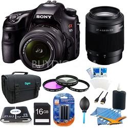 SLTA65VL - a65 Digital SLR Camera 24.3 MP with 18-55mm, 55-200 Lens Bundle