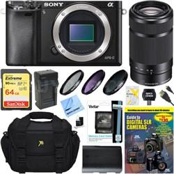 Alpha a6000 24.3MP Mirrorless Digital Camera with 55-210mm Zoom Lens Bundle