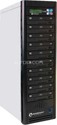 Blu-Ray Tower Duplicator, HDD to 10(6X BD-R/RE, 16X DVD-/+R), 500GB HD